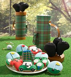gallery of new home themed cookies Golf Cookies, Cake Cookies, Cupcakes, Filled Cookies, Decorated Cookies, Sports Themed Cakes, Sugar Cookie Frosting, Sports Party, Icing Recipe