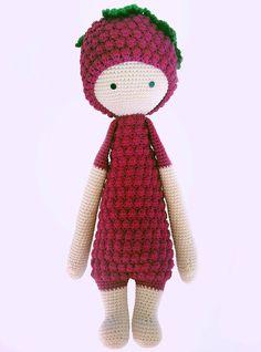 Handmade doll,Handmade Blackberry Bert-Lalylala pattern,Berry stuffed doll,Berry plush doll,amigurumi,crochet berry doll,kids gift by ClashoftheYarns on Etsy