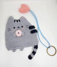 Pusheen the cat key cover