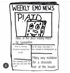 weekly emo news    another existential crisis
