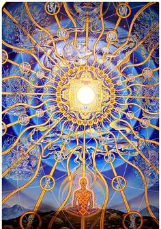 Fully lit up | painting by Alex Grey