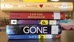 Book Spine Poem (Stop by and create your own!): Where we belong, / I am the messenger. / Fearless, alone. / Gone. / So be it.