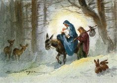 Joseph and Mary, illustrated by Erica von Kager