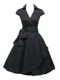 Romantisk, sort, leopart, teparty, Plus size, 1950 stil, Rockabilly, Swing kjole, plus size, fest og hverdag, feminint. Lindy Bop, hellbunny