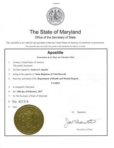 Arizona apostille arizona apostille certificate is a seal - Us department of state office of authentication ...