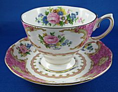 Cup And Saucer Royal Albert Lady Carlyle English Made Bone China