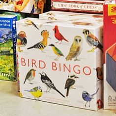 Rather than flying south, many of our feathered friends stick around -through even the coldest months. Let's celebrate that today with this beautifully illustrated board game, featuring 64 species of birds! $29.95 Sold at The Children's Hour Bookstore in Salt Lake City, Utah.  898 South 900 East.  801.359.4150.