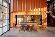 Cargo Container Homes Interiors | This finished house is virtually indistinguishable from conventional ...