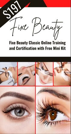 DID YOU KNOW THAT LASH ARTISTS MAKE AN AVERAGE OF $65 TO $95 PER HOUR? GET LASH PRO CERTIFIED IN LESS THAN 2 DAYS ONLINE! Beauty Lash, Beauty Makeup, Beauty Skin, Only Fashion, Fashion Beauty, Women's Fashion, Fashion Outfits, Makeup Guide, Beauty Magazine