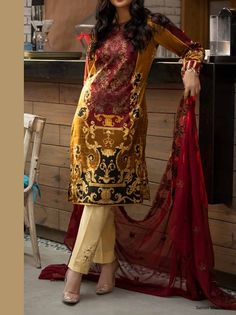 28d876e58d SHADES OF SUMMER BY SALITEX LAWN COLLECTION 2019(WK-257-A) - Umar Poshak  Mehal