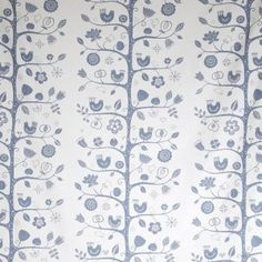 Fågelsång meaning birdsong, is a pretty Scandinavian fabric designed by Betty Svensson. Birds, berries and blooms decorate this cotton fabric in soft china blue on a crisp white background, ideal for curtains, soft furnishing and dressmaking projects.
