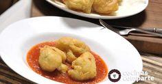 Coliflor capeada con salsa de jitomate al estilo de Sonia Ortiz por Cocina al natural