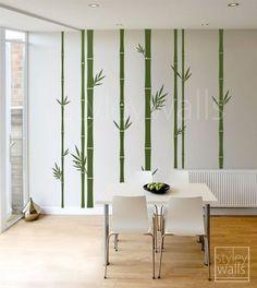 Bamboo Wall Decal, Bamboo Tree Wall Decal, Tall Set of 8 Bamboo Stalks, Home decor, Vinyl Wa Wall Painting Decor, Wall Art Decor, Room Decor, Bamboo Wallpaper, Bamboo Stalks, Bamboo Tree, Tree Wall, Vinyl Wall Decals, Wall Design