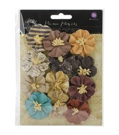 Prima Marketing Timeless Memories Retrospect Mulberry Paper Flowers