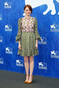 Emma Stone shows that dressing for the brighter side of things can have its perks.