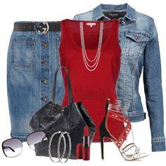 DENIM IS ALWAYS GOOD by arjanadesign on Polyvore featuring moda, P.A.R.O.S.H., TWINTIP, rag & bone/JEAN, Aquazzura, Nyla Star, Betty Jackson, MARC BY MARC JACOBS, Gucci and MAC Cosmetics