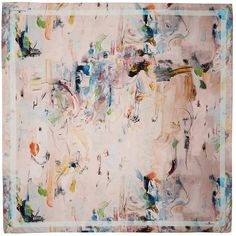 Klements - Medium Square Scarf Oil Painting Print (€92) ❤ liked on Polyvore featuring home, home decor, wall art, pastel home decor, oil pastel painting and pastel wall art