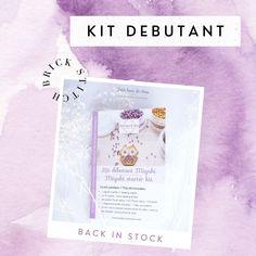 """Estelle's Instagram profile post: """"•>•> M I N I K I T <•<• Le kit débutant en brick stitch est de nouveau en stock dans la boutique. C'est un de vos articles favoris. 💜 Que…"""" Beading Techniques, Peyote Beading, Brick Stitch, Craft Tutorials, Easy Crafts, Weaving, Paper Crafts, Beads, Knitting"""