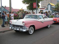 Awesome Ford 2017: 1956 Ford Fairlane Crown Victoria by JarvisEye, via Flickr---- the first car I e...  Flat black cars