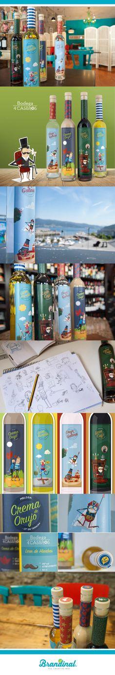 Licores 4 Castros _ Label Design Concept & Illustration _ #graphicdesign #illustration #labeldesign #packaging #brandinal #agency