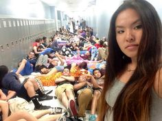 The 23 Best High School Senior Pranks Of 2014 sleeping in ghe middle of class