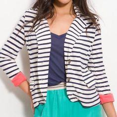 Hp Splendid Striped Blazer S