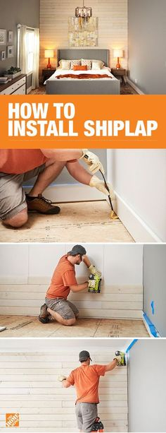Shiplap can add texture and style to an accent wall. You can DIY with the step-by-step instructions on The Home Depot blog. We'll walk you through how to prep your space, measure and cut your boards, then properly install each piece of shiplap. Click through to The Home Depot blog to get started.