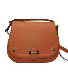 Replica Hermes Saffiano Leather Orange Shoulder Bag HS8818-05 - Voguekingbag.cn