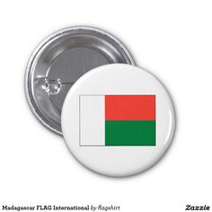 Madagascar FLAG International 1 Inch Round Button