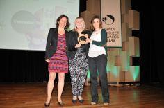 Foto retirada no Green Project Awards Brasil, que contou com a presença de Deborah Vieitas em 2013