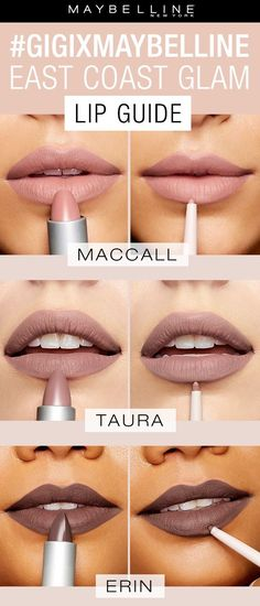 Gigi for maybelline nude lip colours