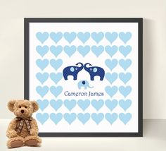 Baby Shower/ New Baby Boy Guestbook Elephants by HeartworkMemories, $24.00