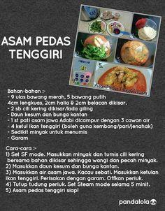 Asam pedas Fish Recipes, Seafood Recipes, Indian Food Recipes, Asian Recipes, Cake Recipes, Cooking Recipes, Ethnic Recipes, Recipies, Power Pressure Cooker