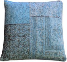 Kussen Patchwork 100x100 blauw - By Boo
