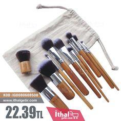 11 Parça Profesyonel Makyaj Fırça Seti - IGD080608508 - 22.39TL İthal Makyaj Fırça Seti, ithalgetir, İthal Makyaj Fırça Takımı,  Makeup Brushes, İthalgetir.com, İthal Getir, Bring import, Bring Express
