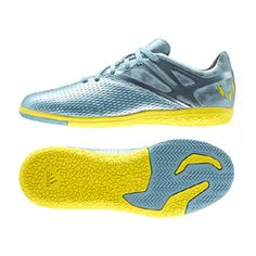 adidas  Youth  Lionel Messi 15.3 Indoor Soccer Shoes (Ice/Yellow)