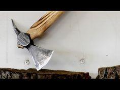 Forging small Viking Axe from old hammer - Wikinger Axt aus altem Hammer...