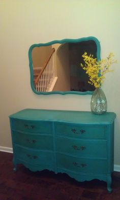 """Annie Sloan painted dresser in """"Florence"""""""