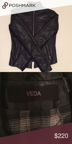 Soft Veda leather jacket Great condition!! Jackets & Coats