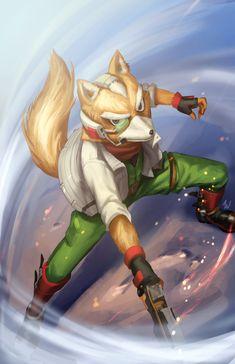 Super Smash Bros Switch, Fox Mccloud, Fox Games, Fox Series, Fox Pictures, Werewolf Art, Star Fox, Fox Art, Manga