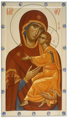 Our Lady of Tenderness Religious Images, Religious Icons, Religious Art, Russian Icons, Russian Art, Byzantine Art, Madonna And Child, Blessed Virgin Mary, Orthodox Icons