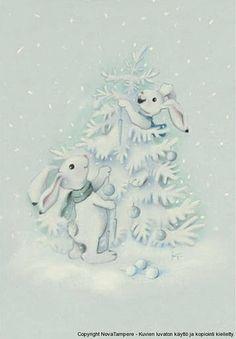 """Bunny Christmas Tree"" by Kaarina Toivanen #December #Snow"