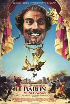The Adventures of Baron Munchausen.  This movie creeped me out a little when I was a kid, but I still watched it a lot.