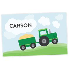 Hey, I found this really awesome Etsy listing at https://www.etsy.com/listing/166651735/tractor-personalized-placemat