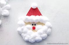 Kids Crafts SANTA CARD - this Santa card is so fun for kids to make! You can make this as a Christmas craft for kids or as a Christmas card kids can m. Diy Christmas Cards, Easy Christmas Crafts, Christmas Crafts For Kindergarteners, Homemade Christmas, Christmas Christmas, Christmas Kitchen, Christmas Cards For Children, Childrens Christmas Card Ideas, Christmas Decorations For Classroom