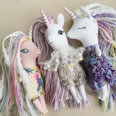 My photos keep turning fuzzy when I post them on here... anyone else having that problem? Hmm anyways here are some of the dolls I'm listing Saturday! #unicornlove #libertylavenderdolls #dollmaker #heirloomdoll #girlsdecor