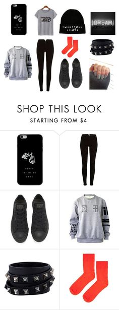 """""""twenty one pilots set 1"""" by eilnsita-sws ❤ liked on Polyvore featuring beauty, River Island, Converse, Valentino and Topshop"""