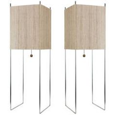 Pair of George Nelson Table Lamps