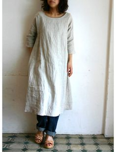 Linen dress tunic...I love this look