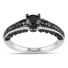 @Overstock - Round black diamond ringSterling silver jewelryClick here for ring sizing guidehttp://www.overstock.com/Jewelry-Watches/Miadora-Sterling-Silver-1ct-TDW-Black-Diamond-Ring/7260791/product.html?CID=214117 $193.49